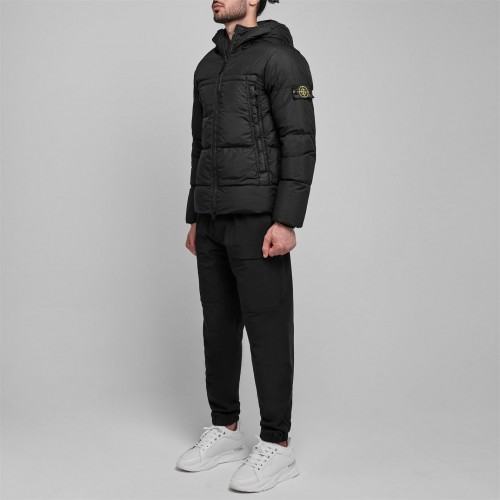 STONE ISLAND Young Men Crinkle Rep Puffer Jacket suits Black Clearance 5V9LG451