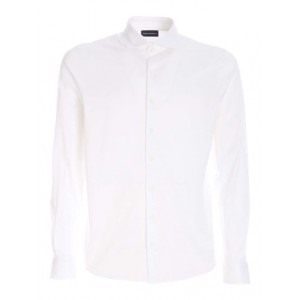 Paolo Fiorillo Male Cotton shirt in white Clothing outlet Sale 9WU2Q8579