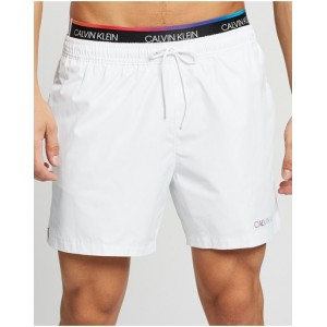 Calvin Klein Young Men Ck Pride - Medium Double Waistband Boardshorts pants fit types PVH Classic White in store SFTM46818