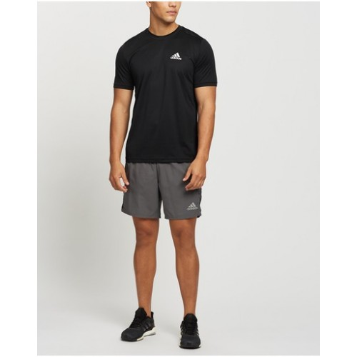 adidas Performance Male AEROREADY Designed to Move Sports Tee pants fit Black & White stores 9S2XA5970
