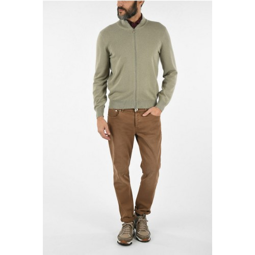 Brunello Cucinelli Cashmere Sweater with Zip Clothing suits for Men guide QSQMJ7156