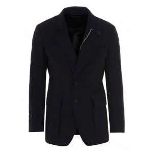 Tom Ford Male Tech canvas jacket in blue sizes Discount Sale 08F1P1811
