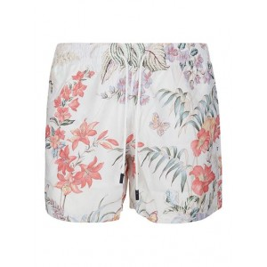 Etro Boy Floral print swim shorts in white  Clearance Top Sale 2AQS87254