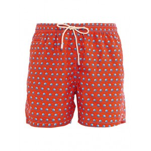 MC2 Saint Barth Young Men Jellyfish print swim shorts in red Clothing fit types Fitted Ships Free 5RGXL8962