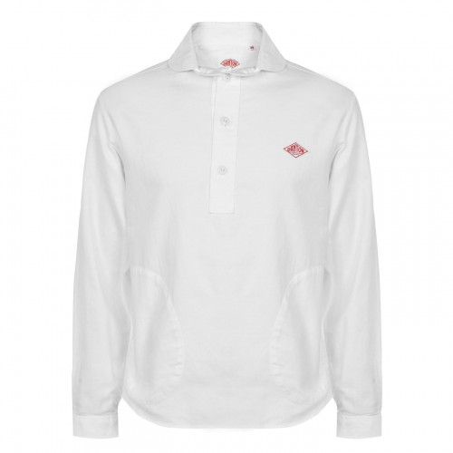 Danton Male Over The Head Smock Shirt suits White on clearance YKR739279