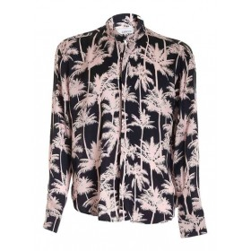Laneus Boy Palm tree print shirt in black and pink Clothing fit Top Sale Cheap HSAL26274