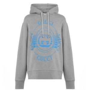 GUCCI Young Men Disco Oth Hoodie sizes Grey 1060 Sale on clearance YUG6W1748