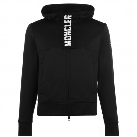 MONCLER Male Stamp Logo Zip Hoodie sizes Black 999 For Sale Clearance JIH1A258