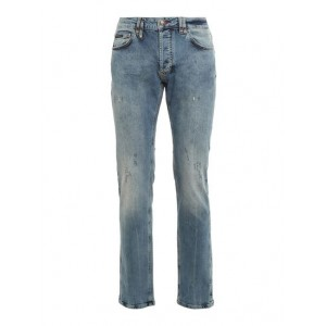 Philipp Plein Male Straight leg jeans in light blue suits high quality 6HW25288