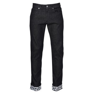 VERSACE Male Greek Key Print Jeans 90s Black ID040 stores Clearance OD9WH2577