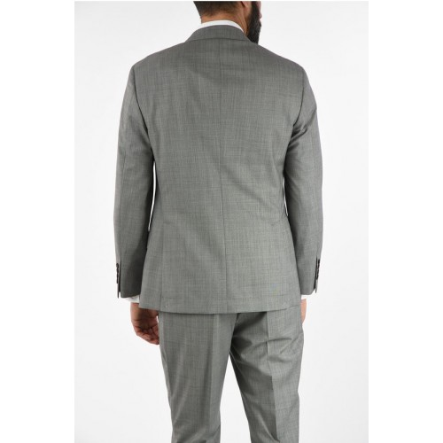 Brunello Cucinelli Virgin Wool Double-Breasted Suit with Peaked Lapel Clothing for Men 2021 Trends IDSIV6037