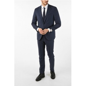 Corneliani side vents plaid drop 7R 2-button SARTORIA suit Clothing plus size for Young Men on clearance RTAY18237