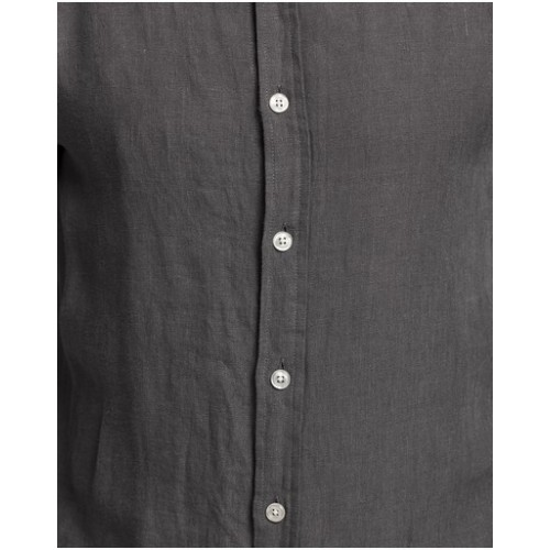 AERE Men LS Linen Shirt Clothing fit types Charcoal Clearance Clearance for sale near me WOARY5632