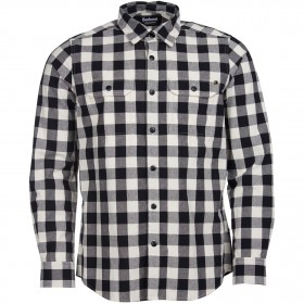 Barbour International Men Bold Block Check Shirt big and tall White WH32 Casual WZBSS6555