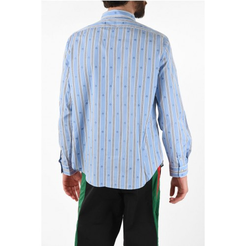Gucci Striped Shirt with Bee Embroidered Clothing for Boy Clearance On Line 5AF3Y2092