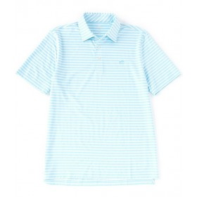 Southern Tide BRRR Driver Heather Stripe Performance Stretch Short-Sleeve Polo Shirt length for Male Cost 1O8UV4422
